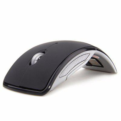 Folding Mouse 2.4G Wireless Ultra-Thin USB Arc Photoelectric MouseMouse<br>Folding Mouse 2.4G Wireless Ultra-Thin USB Arc Photoelectric Mouse<br><br>Backlight Type: Colorful light<br>Battery Current: 1.2mA<br>Battery Type: AAA<br>Battery Voltage: 1.5V<br>Cable Length (m): No<br>Coding Supported: Yes<br>Color: Black<br>Connection: Wireless<br>Connection Type: 2.4GHz Wireless<br>DPI Adjustment: Support<br>Features: Novelty, Gaming<br>Interface: Mini USB<br>Lithium Battery Capacity: 100<br>Material: ABS<br>Model: folding—001<br>Mouse Macro Express Supported: Yes<br>Mouse Type: Optical,Arc,Ergonomic<br>Package Contents: 1 x Wireless Optical Mouse, 1 x Mini USB Receiver<br>Package size (L x W x H): 16.00 x 12.00 x 9.00 cm / 6.3 x 4.72 x 3.54 inches<br>Package weight: 0.0516 kg<br>Power Supply: Battery<br>Product size (L x W x H): 11.78 x 5.88 x 3.65 cm / 4.64 x 2.31 x 1.44 inches<br>Product weight: 0.0513 kg<br>Resolution: 1600DPI<br>Suitable for: Pad, PC<br>System support: Windows Vista, Windows 10, Windows 7, Windows 8, Windows 2000<br>Transmit Range: 10M<br>Type: Mouse<br>Usage: Gaming, Mmo