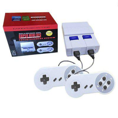 Super Mini SFC Console Game with Built in 400 GamesHandheld Games<br>Super Mini SFC Console Game with Built in 400 Games<br><br>Compatible with: NES, SFC<br>Language: English<br>Package Contents: 1 x Game Console , 2 x Controllers , 1 x AV Cable , 1 x AC Electric Power Plug , 1 x  User Manual , 1 x Game List<br>Package size: 22.50 x 18.00 x 7.90 cm / 8.86 x 7.09 x 3.11 inches<br>Package weight: 0.7000 kg<br>Pre-positioned Games Number: 400<br>Product size: 13.00 x 10.00 x 4.50 cm / 5.12 x 3.94 x 1.77 inches<br>Product weight: 0.4800 kg