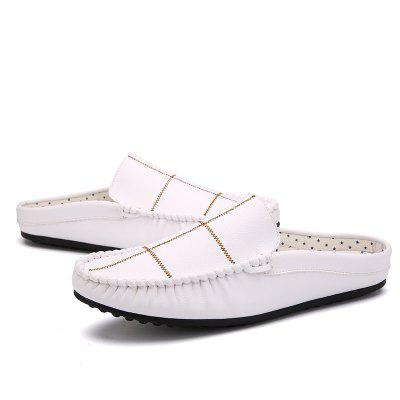Men High Quality Summer Fashion Loafer Style SlippersFlats &amp; Loafers<br>Men High Quality Summer Fashion Loafer Style Slippers<br><br>Available Size: 39 40 41 42 43 44<br>Embellishment: None<br>Gender: For Men<br>Outsole Material: Rubber<br>Package Contents: 1?Shoes(pair)<br>Pattern Type: Solid<br>Season: Summer<br>Slipper Type: Outdoor<br>Style: Concise<br>Upper Material: Microfiber<br>Weight: 1.0200kg