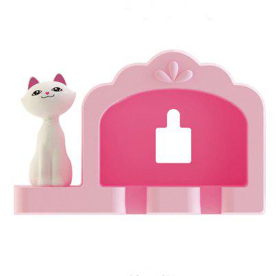 Bathroom Amenity Cute Cat Couple Toothbrush Holder RackToothbrush &amp; Accessories<br>Bathroom Amenity Cute Cat Couple Toothbrush Holder Rack<br><br>Available Color: Pink<br>Functions: Bathroom<br>Materials: ABS<br>Package Contents: 1 x Toothbrush Holder<br>Package Size(L x W x H): 10.00 x 5.00 x 7.00 cm / 3.94 x 1.97 x 2.76 inches<br>Package weight: 0.0600 kg<br>Product Size(L x W x H): 9.70 x 4.00 x 6.40 cm / 3.82 x 1.57 x 2.52 inches<br>Product weight: 0.0440 kg<br>Types: Storage Holders and Racks