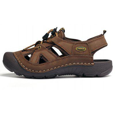 ZEACAVA Beach Sandals Outdoor Climbing Wading ShoesMens Sandals<br>ZEACAVA Beach Sandals Outdoor Climbing Wading Shoes<br><br>Closure Type: Elastic band<br>Contents: 1 x Pair of Shoes<br>Decoration: Hollow Out<br>Function: Slip Resistant<br>Materials: Leather<br>Occasion: Casual<br>Outsole Material: Rubber<br>Package Size ( L x W x H ): 30.00 x 20.00 x 10.00 cm / 11.81 x 7.87 x 3.94 inches<br>Package weight: 0.4800 kg<br>Pattern Type: Solid<br>Product weight: 0.4500 kg<br>Seasons: Summer<br>Style: Comfortable, Fashion, Casual<br>Toe Shape: Round Toe<br>Type: Sandals<br>Upper Material: Leather