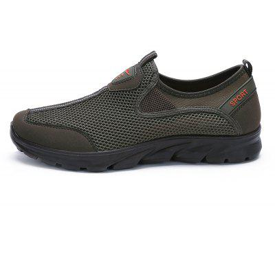 Men Large Size Mesh Breathable Running Walking Sneakers ShoesCasual Shoes<br>Men Large Size Mesh Breathable Running Walking Sneakers Shoes<br><br>Closure Type: Elastic band<br>Contents: 1 x Pair of Shoes<br>Decoration: Hollow Out<br>Lining Material: Microfiber<br>Materials: Air Mesh<br>Occasion: Shopping, Running, Office, Daily, Holiday, Dress, Party, Casual, Formal<br>Outsole Material: Rubber<br>Package Size ( L x W x H ): 35.00 x 25.00 x 10.00 cm / 13.78 x 9.84 x 3.94 inches<br>Package weight: 0.7000 kg<br>Pattern Type: Solid<br>Product weight: 0.6000 kg<br>Seasons: Spring,Summer,Autumn<br>Style: Comfortable, Leisure, Business, Fashion, Formal, Casual<br>Type: Casual Shoes<br>Upper Material: Polyester,Air Mesh