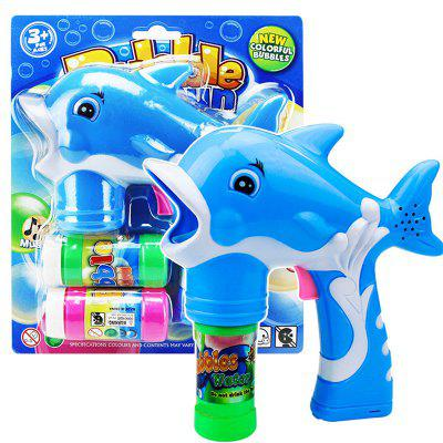 Dolphin Bubble Gun Blower Blaster with Flashing LED Lights Music 2 RefillClassic Toys<br>Dolphin Bubble Gun Blower Blaster with Flashing LED Lights Music 2 Refill<br><br>Appliable Crowd: Unisex<br>Materials: Plastic<br>Nature: Gun<br>Package Contents: 1 x Bubble Toy,  2 x bubble water<br>Package size: 24.50 x 20.50 x 5.50 cm / 9.65 x 8.07 x 2.17 inches<br>Package weight: 1.2000 kg<br>Product size: 15.00 x 7.00 x 18.00 cm / 5.91 x 2.76 x 7.09 inches<br>Product weight: 1.0000 kg