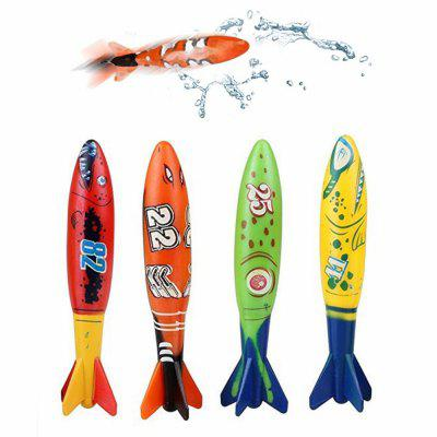 Funny Kid Torpedo Underwater Swimming Pool Diving Throwing Toy 4PCSNovelty Toys<br>Funny Kid Torpedo Underwater Swimming Pool Diving Throwing Toy 4PCS<br><br>Features: Creative Toy<br>Materials: PVC<br>Package Contents: 4 x Torpedo<br>Package size: 19.50 x 20.00 x 4.00 cm / 7.68 x 7.87 x 1.57 inches<br>Package weight: 0.2000 kg<br>Product size: 13.00 x 3.50 x 3.50 cm / 5.12 x 1.38 x 1.38 inches<br>Product weight: 0.1700 kg<br>Series: Entertainment<br>Theme: Sport