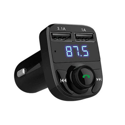 Bluetooth Car FM Transmitter MP3 Music Player Dual USB  ChargerFM Transmitters &amp; Players<br>Bluetooth Car FM Transmitter MP3 Music Player Dual USB  Charger<br><br>Bluetooth Version: V4.0<br>Built-in EQ: Classic<br>Connection: Bluetooth, USB 2.0<br>Interface: USB 2.0<br>Language: English,Simplified Chinese<br>Media Format: WAV, WMA, FLAC, MP3<br>Micro SD/TF Card Expansion (Max.): 32GB<br>Music Source: TF/Micro SD Card<br>Output Power: 5 V / 4A<br>Package Contents: 1 X Car MP3 Charger<br>Package size (L x W x H): 13.00 x 8.20 x 5.80 cm / 5.12 x 3.23 x 2.28 inches<br>Package weight: 0.1000 kg<br>Product size (L x W x H): 4.50 x 3.20 x 7.30 cm / 1.77 x 1.26 x 2.87 inches<br>Product weight: 0.0300 kg<br>Type: Car MP3 Player<br>Voltage: 12 - 24V<br>Working Tempreture (Deg.): 0?-60?<br>Working Voltage: 50-100mA DC12V