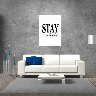 W274 Letters Frameless Wall Canvas Prints for Home Office Livingroom Decoration stylish diy purple mangnolia and letters pattern wall stickers for home decor