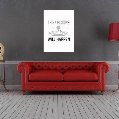 W280 Unique Letters Frameless Wall Canvas Prints for Home Livingroom Decoration stylish diy purple mangnolia and letters pattern wall stickers for home decor