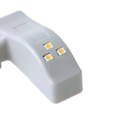 YWXLight Universal Cabinet  Inner LED Hinge Sensor Light for Closet WardrobeNight Lights<br>YWXLight Universal Cabinet  Inner LED Hinge Sensor Light for Closet Wardrobe<br><br>Battery Quantity: 1 x 23A battery (not include)<br>Color Temperature or Wavelength: 6000 - 6500K (cold white) , 2800 - 3200K (warm white)<br>Connector Type: Battery<br>Features: Sensor<br>Initial Lumens ( lm ): 25lm<br>Light Source Color: Warm White,Cold White<br>Light Type: LED Night Light<br>Mini Voltage: 5V<br>Package Contents: 10 x YWXLight Cabinet Light, 10 x YWXLight Screw<br>Package size (L x W x H): 20.00 x 9.00 x 5.00 cm / 7.87 x 3.54 x 1.97 inches<br>Package weight: 0.1260 kg<br>Power Source: Battery<br>Product size (L x W x H): 7.00 x 3.00 x 3.00 cm / 2.76 x 1.18 x 1.18 inches<br>Product weight: 0.1100 kg<br>Quantity: 1<br>Style: Nature Inspired<br>Wattage: 0.25