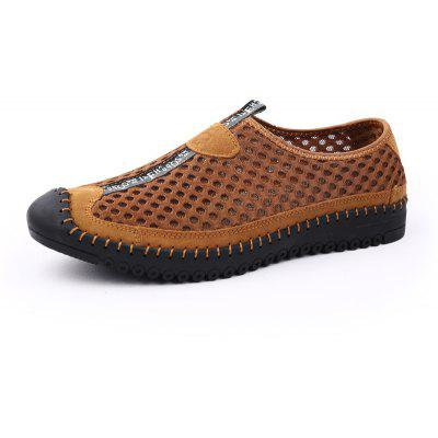 ZEACAVA Men's Casual Breathable Outdoor Mesh Shoes -  43  BROWN