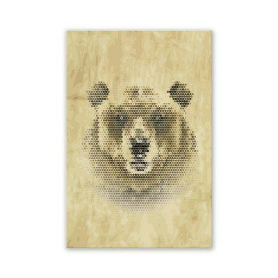 W285 Panda Lion Bear Unframed Art Wall Canvas Prints for Home Decorations 3 PCS burning guitar pattern unframed wall art canvas paintings