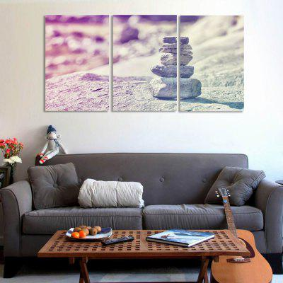 W289 Stones Unframed Art Wall Canvas Prints for Home Decorations 3 PCS yhhp 4 panels eiffel tower in the rain landscape print canvas art unframed