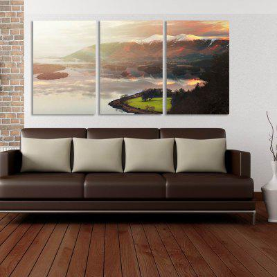 W291 Landscape Unframed Art Wall Canvas Prints for Home Decorations 3 PCS bamboos patterned wall art unframed canvas paintings