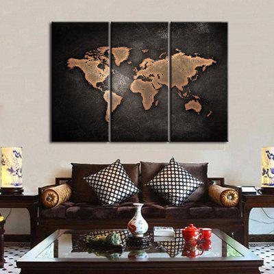 World Map Frameless Printed Canvas Wall Art Paintings 3PCSPrints<br>World Map Frameless Printed Canvas Wall Art Paintings 3PCS<br><br>Craft: Print<br>Form: Three Panels<br>Material: Canvas<br>Package Contents: 3 x Prints<br>Package size (L x W x H): 51.00 x 5.50 x 5.50 cm / 20.08 x 2.17 x 2.17 inches<br>Package weight: 0.5000 kg<br>Painting: Without Inner Frame<br>Product weight: 0.4000 kg<br>Shape: Vertical Panoramic<br>Style: Art Deco<br>Subjects: Seascape<br>Suitable Space: Living Room,Bedroom,Dining Room,Office,Hotel,Cafes,Kids Room,Study Room / Office
