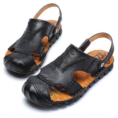 New Summer Mens Leather Casual SandalsMens Sandals<br>New Summer Mens Leather Casual Sandals<br><br>Available Size: 41-44<br>Closure Type: Buckle Strap<br>Embellishment: Hollow Out<br>Gender: For Men<br>Heel Hight: 1cm<br>Occasion: Casual<br>Outsole Material: Rubber<br>Package Contents: 1 x shoes(pair)<br>Pattern Type: Solid<br>Sandals Style: Ankle-Wrap<br>Style: Leisure<br>Upper Material: Full Grain Leather<br>Weight: 1.7424kg