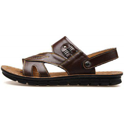 MUHUISEN   Slippers Leather Sandals Summer Casual Shoes Fashion Men Beach FlipMens Slippers<br>MUHUISEN   Slippers Leather Sandals Summer Casual Shoes Fashion Men Beach Flip<br><br>Brand: MUHUISEN<br>Closure Type: Buckle Strap<br>Contents: 1 x Pair of Shoes<br>Decoration: Hollow Out<br>Function: Slip Resistant<br>Lining Material: PU<br>Materials: Leather<br>Occasion: Tea Party, Outdoor Clothing, Shopping, Office, Daily, Beach, Holiday, Dress, Casual, Party<br>Outsole Material: Rubber<br>Package Size ( L x W x H ): 32.00 x 20.00 x 12.00 cm / 12.6 x 7.87 x 4.72 inches<br>Package weight: 0.7000 kg<br>Pattern Type: Solid<br>Product weight: 0.5000 kg<br>Seasons: Spring,Summer,Autumn<br>Style: Comfortable, Business, Fashion, Formal, Casual<br>Toe Shape: Round Toe,Open Toe<br>Type: Slippers<br>Upper Material: Leather