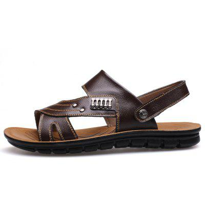 Muhuisen Leather Sandals Casual Men Slippers Summer Shoes Beach Flip FlopMens Slippers<br>Muhuisen Leather Sandals Casual Men Slippers Summer Shoes Beach Flip Flop<br><br>Brand: MUHUISEN<br>Closure Type: Slip-On<br>Contents: 1 x Pair of Shoes<br>Function: Slip Resistant<br>Lining Material: PU<br>Materials: Leather<br>Occasion: Outdoor Clothing, Shopping, Office, Daily, Beach, Party, Casual<br>Outsole Material: Rubber<br>Package Size ( L x W x H ): 32.00 x 20.00 x 12.00 cm / 12.6 x 7.87 x 4.72 inches<br>Package weight: 0.7000 kg<br>Pattern Type: Solid<br>Product weight: 0.5000 kg<br>Seasons: Spring,Summer,Autumn<br>Style: Comfortable, Business, Fashion, Casual, Formal<br>Toe Shape: Round Toe,Open Toe<br>Type: Slippers<br>Upper Material: Leather