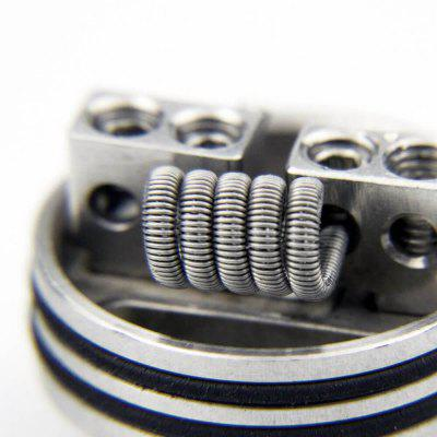 AKATTAK Kanthal A1 Staggered Clapton  Prebuilt Heating Wire 20pcsAccessories<br>AKATTAK Kanthal A1 Staggered Clapton  Prebuilt Heating Wire 20pcs<br><br>Material: Kanthal<br>Model: Staggered<br>Overall Diameter: 30mm<br>Package Contents: 20 x Heating Wire<br>Package size (L x W x H): 6.00 x 6.00 x 2.00 cm / 2.36 x 2.36 x 0.79 inches<br>Package weight: 0.0300 kg<br>Product size (L x W x H): 6.00 x 6.00 x 2.00 cm / 2.36 x 2.36 x 0.79 inches<br>Product weight: 0.0300 kg<br>Resistance: 0.3