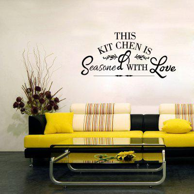 Kitchen Love Wall Sticker Restaurant Home Decor Removable Decal Art DIY Vinyl wallpaper removable art vinyl quote diy wall sticker decal mural home room decor 350011