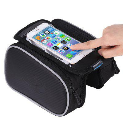 Bicycle Mobile Phone Touch Screen Riding On The Front Tube Saddle Bag b soul ya162 bike bicycle top tube double bag w touch screen phone pouch case black blue