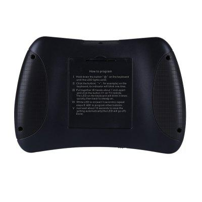 Ipazzport KP-810-61 Backlit Mini Wireless Keyboard  Mouse and Infrared LearningKeyboards<br>Ipazzport KP-810-61 Backlit Mini Wireless Keyboard  Mouse and Infrared Learning<br><br>Bluetooth Version: Not Supported<br>Cable Length (m): 0.3M<br>Certificate: CE,RoHs,FCC<br>Color: Black<br>Connection: Wireless<br>Features: Remote Control, Illuminated, Ergonomic, Small, Portable, Flexible, Rechargeable, Multi-Touch<br>Function: With Touchpad, Programmable, Lighted<br>Interface: Micro USB<br>Key Number: 87<br>Keyboard Lifespan ( times): 5 million times and more<br>Keyboard Type: Virtual<br>Material: ABS<br>Model: KP-810-61<br>Package Contents: 1 x keyboard,  1 x User Manual,   1 x USB cable,   1 x USB Receiver<br>Package size (L x W x H): 15.50 x 9.90 x 2.40 cm / 6.1 x 3.9 x 0.94 inches<br>Package weight: 0.1520 kg<br>Power Supply: Li-ion Battery<br>Product size (L x W x H): 14.25 x 9.70 x 1.98 cm / 5.61 x 3.82 x 0.78 inches<br>Product weight: 0.1080 kg<br>Response Speed: 0.2ms<br>Suitable for: Computer, Android TV, Laptop, Andriod TV Box, Google TV Box, XBOX360, IPTV<br>System support: Mac OS, Windows, IOS, Windows XP, Linux, Android<br>Type: Keyboard