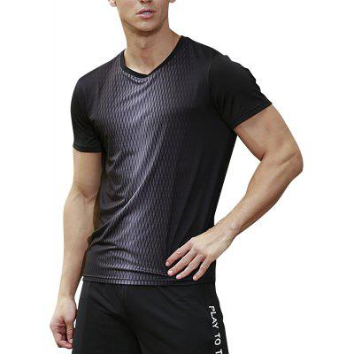 Men's  SPORTS Tech Quick Dry Exercise Fitness T-Shirt