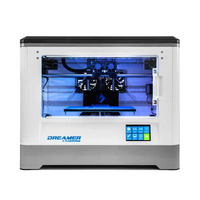Flashroge Dreamer 3D Printer with Fully Enclosed Chamber Dual Extruder WIFI3D Printers, 3D Printer Kits<br>Flashroge Dreamer 3D Printer with Fully Enclosed Chamber Dual Extruder WIFI<br><br>Certificate: CE,RoHs,FCC<br>Connector Type: SD card, Wi-Fi, USB<br>File format: STL, OBJ, JPG, BMP<br>Language: English,French,Russian,German,Italian,Polish,Japanese,Chinese<br>Layer thickness: 0.05-0.4mm<br>LCD Screen: Yes<br>Material diameter: 1.75mm<br>Memory card offline print: SD card<br>Model: Dreamer<br>Model supporting function: Yes<br>Nozzle diameter: 0.4mm<br>Nozzle quantity: Double<br>Package size: 57.00 x 43.00 x 54.50 cm / 22.44 x 16.93 x 21.46 inches<br>Package weight: 16.7000 kg<br>Packing Contents: 1 x Dreamer 3D Printer, 1 x 600g White PLA Filament, 1 x 600g Blue PLA Filament, 1 x Power Cable, 1 x USB Cable<br>Packing Type: Assembled packing<br>Platform temperature: Room temperature to 110 degree<br>Print speed: 30-200mm/s<br>Product forming size: 230x150x140mm<br>Product size: 48.50 x 34.40 x 38.20 cm / 19.09 x 13.54 x 15.04 inches<br>Product weight: 10.7000 kg<br>Supporting material: ABS, TPU, Flexible Filaments, PETG, PLA, Nylon<br>System support: Windows xp/Windows Vista/Windows 7/Linux/Mac OX<br>Type: Complete Machine<br>Voltage: 100V/240V<br>Voltage Range: 100-240<br>Working Power: 100-240 V, ~2amps, 50-60 Hz, 350 W<br>XY-axis positioning accuracy: 0.011mm<br>Z-axis positioning accuracy: 0.0025mm