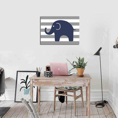 Frame Canvas Living Room Bedroom Background Wall Small Elephant Adornment PrintPrints<br>Frame Canvas Living Room Bedroom Background Wall Small Elephant Adornment Print<br><br>Brand: Qiaojiahuayuan<br>Craft: Print<br>Form: One Panel<br>Material: Canvas<br>Package Contents: 1 x Print<br>Package size (L x W x H): 32.00 x 42.00 x 3.00 cm / 12.6 x 16.54 x 1.18 inches<br>Package weight: 0.4000 kg<br>Painting: Include Inner Frame<br>Product size (L x W x H): 30.00 x 40.00 x 1.00 cm / 11.81 x 15.75 x 0.39 inches<br>Product weight: 0.3000 kg<br>Shape: Horizontal Panoramic<br>Style: Animal<br>Subjects: Still Life<br>Suitable Space: Living Room,Bedroom
