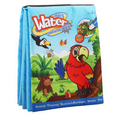 Children Early Education Educational Graffiti Water Magic Cloth Book 4 Pages c graffiti painting educational diy toy for children