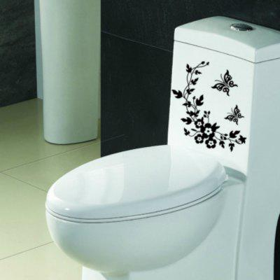 Irises and Rattan Toilet Paper Removable Wall Stickers