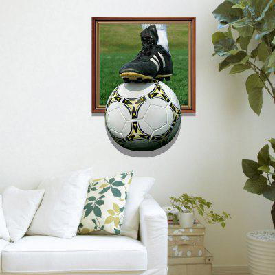 3D Football Personality Creative Removable Wall Stickers