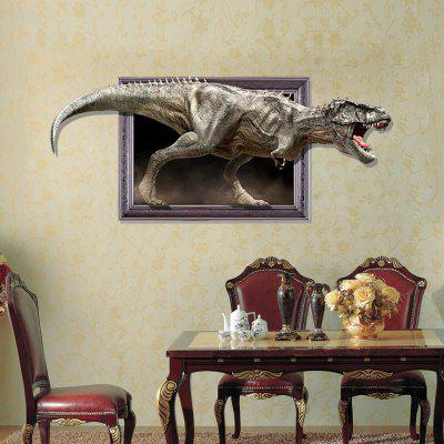 3D Dinosaur Personality Creativity Removable Wall Sticker 3d blooming rose interior removable wall sticker
