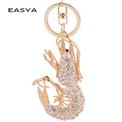 Popular New Features Creative Crayfish Metal Key Chain Car Pendant Bag Pendant fashion girl bag pendant fan shape tassels key chain car ornaments