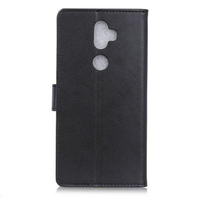 for Alcatel 3V Wallet Case with Case Kickstand Feature Card Slots solid color litchi pattern wallet style front buckle flip pu leather case with card slots for doogee x10