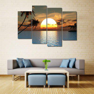 Sunset Frameless Printed Canvas Wall Art Paintings 4PCSPrints<br>Sunset Frameless Printed Canvas Wall Art Paintings 4PCS<br><br>Craft: Print<br>Form: Four Panels<br>Material: Canvas<br>Package Contents: 4 x Prints<br>Package size (L x W x H): 41.00 x 5.00 x 5.00 cm / 16.14 x 1.97 x 1.97 inches<br>Package weight: 0.4600 kg<br>Painting: Without Inner Frame<br>Product weight: 0.3600 kg<br>Shape: Vertical Panoramic<br>Style: Art Deco<br>Subjects: Seascape<br>Suitable Space: Living Room,Bedroom,Dining Room,Office,Hotel,Cafes,Kids Room,Study Room / Office