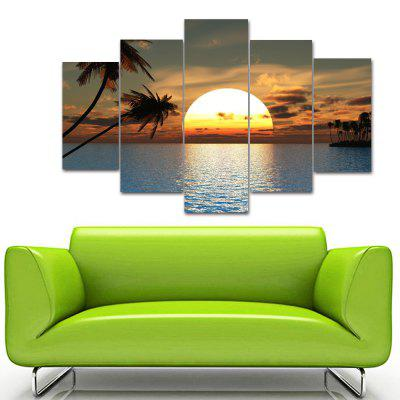 Sunset Frameless Printed Canvas Wall Art Paintings 5PCSPrints<br>Sunset Frameless Printed Canvas Wall Art Paintings 5PCS<br><br>Craft: Print<br>Form: Five Panels<br>Material: Canvas<br>Package Contents: 5 x Prints<br>Package size (L x W x H): 36.00 x 5.00 x 5.00 cm / 14.17 x 1.97 x 1.97 inches<br>Package weight: 0.3900 kg<br>Painting: Without Inner Frame<br>Product weight: 0.2900 kg<br>Shape: Vertical Panoramic<br>Style: Art Deco<br>Subjects: Seascape<br>Suitable Space: Living Room,Bedroom,Dining Room,Office,Hotel,Cafes,Kids Room,Study Room / Office