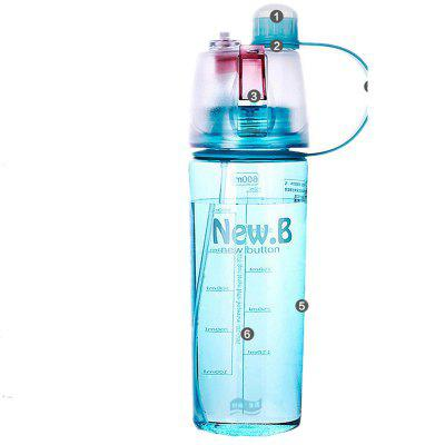 600ML Portable Sport Water Bottle Drinking Cup with Mist