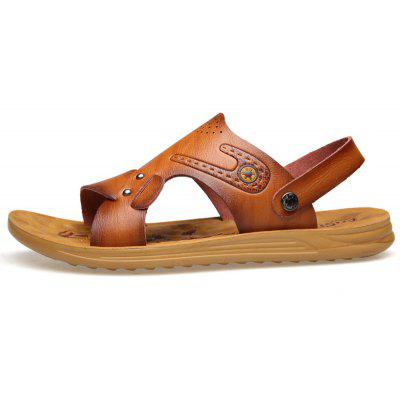 MUHUISEN Summer Men Sandals PU Leather Breathable Beach SlippersMens Slippers<br>MUHUISEN Summer Men Sandals PU Leather Breathable Beach Slippers<br><br>Brand: MUHUISEN<br>Closure Type: Slip-On<br>Contents: 1 x Pair of Shoes<br>Decoration: Hollow Out<br>Function: Slip Resistant<br>Lining Material: PU<br>Materials: Microfiber Leather<br>Occasion: Tea Party, Outdoor Clothing, Shopping, Office, Daily, Beach, Holiday, Party, Casual, Formal<br>Outsole Material: Rubber<br>Package Size ( L x W x H ): 32.00 x 20.00 x 12.00 cm / 12.6 x 7.87 x 4.72 inches<br>Package weight: 0.7000 kg<br>Pattern Type: Solid<br>Product weight: 0.5000 kg<br>Seasons: Spring,Summer,Autumn<br>Style: Comfortable, Leisure, Business, Fashion, Casual<br>Toe Shape: Open Toe<br>Type: Slippers<br>Upper Material: Microfiber Leather