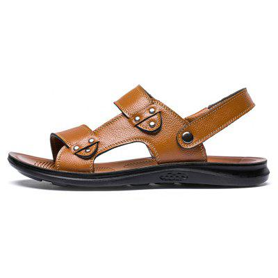 MUHUISEN Men Summer Leather  Beach Casual Shoes Outdoor SandalsMens Slippers<br>MUHUISEN Men Summer Leather  Beach Casual Shoes Outdoor Sandals<br><br>Brand: MUHUISEN<br>Closure Type: Slip-On<br>Contents: 1 x Pair of Shoes<br>Decoration: Hollow Out<br>Function: Slip Resistant<br>Lining Material: PU<br>Materials: Leather<br>Occasion: Hotel Uniforms, Outdoor Clothing, Rainy Day, Shopping, Office, Daily, Beach, Holiday, Dress, Party, Casual, Tea Party<br>Outsole Material: Rubber<br>Package Size ( L x W x H ): 32.00 x 20.00 x 12.00 cm / 12.6 x 7.87 x 4.72 inches<br>Package weight: 0.7000 kg<br>Pattern Type: Solid<br>Product weight: 0.5000 kg<br>Seasons: Spring,Summer,Autumn<br>Style: Comfortable, Modern, Leisure, Business, Fashion, Casual<br>Toe Shape: Open Toe<br>Type: Slippers<br>Upper Material: Leather