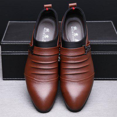 MUHUISEN   Men Dress  Business   PU Leather Breathable Formal Wedding ShoesFormal Shoes<br>MUHUISEN   Men Dress  Business   PU Leather Breathable Formal Wedding Shoes<br><br>Brand: MUHUISEN<br>Closure Type: Slip-On<br>Contents: 1 x Pair of Shoes<br>Function: Slip Resistant<br>Lining Material: PU<br>Materials: PU<br>Occasion: Hotel Uniforms, Tea Party, Outdoor Clothing, Shopping, Office, Daily, Beach, Holiday, Dress, Party, Formal, Casual, Rainy Day<br>Outsole Material: Rubber<br>Package Size ( L x W x H ): 32.00 x 20.00 x 12.00 cm / 12.6 x 7.87 x 4.72 inches<br>Package weight: 0.8000 kg<br>Pattern Type: Solid<br>Product weight: 0.6000 kg<br>Seasons: Spring,Summer,Winter,Autumn<br>Style: Comfortable, Casual, Fashion, Business, Leisure, Modern, Formal<br>Toe Shape: Pointed Toe<br>Type: Casual Shoes<br>Upper Material: PU