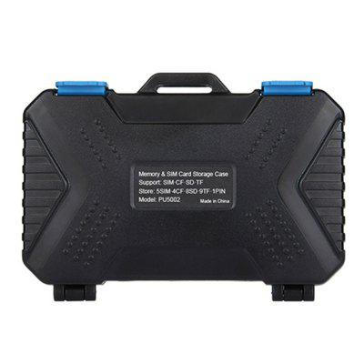 PULUZ Water-Resistant Micro SD CF TF Holder Stocker Storage BoxCamera Bags<br>PULUZ Water-Resistant Micro SD CF TF Holder Stocker Storage Box<br><br>Package Contents: 1 x Memory Cards Case<br>Package size (L x W x H): 13.00 x 9.00 x 3.50 cm / 5.12 x 3.54 x 1.38 inches<br>Package weight: 0.1900 kg<br>Product size (L x W x H): 11.50 x 7.00 x 2.05 cm / 4.53 x 2.76 x 0.81 inches<br>Product weight: 0.1760 kg<br>Type: Other