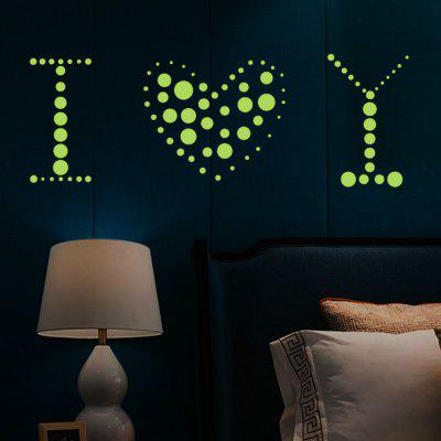 Creative DIY Dotted Luminous Cartoon Wall Sticker Decoration fluorescence creative fairy stars luminous switch wall sticker