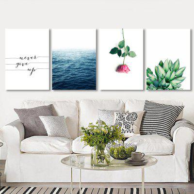 W307 Letters and Plants Unframed Wall Canvas Prints for Home Decorations 4PCSPrints<br>W307 Letters and Plants Unframed Wall Canvas Prints for Home Decorations 4PCS<br><br>Craft: Print<br>Form: Four Panels<br>Material: Canvas<br>Package Contents: 4 x Prints<br>Package size (L x W x H): 30.00 x 5.00 x 5.00 cm / 11.81 x 1.97 x 1.97 inches<br>Package weight: 0.1190 kg<br>Painting: Without Inner Frame<br>Product size (L x W x H): 25.00 x 35.00 x 4.00 cm / 9.84 x 13.78 x 1.57 inches<br>Product weight: 0.1160 kg<br>Shape: Vertical<br>Style: European Style, Artistic Style, Fashion, Novelty<br>Subjects: Others<br>Suitable Space: Living Room,Dining Room,Office,Hotel,Cafes