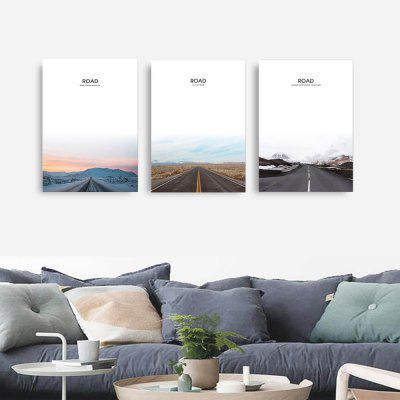 W311 Road Unframed Wall Canvas Prints for Home Decorations 3PCSPrints<br>W311 Road Unframed Wall Canvas Prints for Home Decorations 3PCS<br><br>Craft: Print<br>Form: Three Panels<br>Material: Canvas<br>Package Contents: 3 x Prints<br>Package size (L x W x H): 54.00 x 5.00 x 5.00 cm / 21.26 x 1.97 x 1.97 inches<br>Package weight: 0.2900 kg<br>Painting: Without Inner Frame<br>Product size (L x W x H): 49.00 x 70.00 x 3.00 cm / 19.29 x 27.56 x 1.18 inches<br>Product weight: 0.2850 kg<br>Shape: Vertical<br>Style: European Style, Artistic Style, Fashion, Novelty<br>Subjects: Landscape<br>Suitable Space: Living Room,Dining Room,Office,Hotel,Cafes