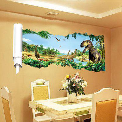 3D Dinosaurs World Background Wall Sticker Home Animal Decoration 3d christmas removable wall sticker home decoration