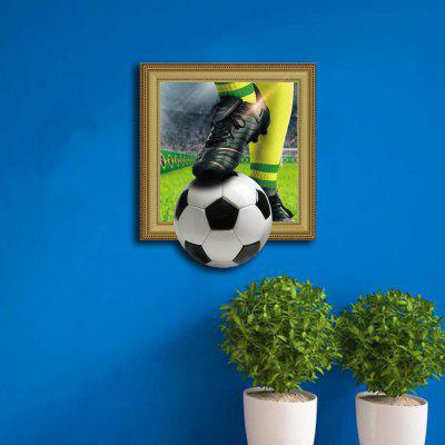 3D Football Personality Creative Removable Wall Sticker 3d blooming rose interior removable wall sticker
