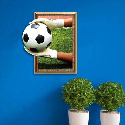 3D Goalkeeper Football Personality Creative Removable Wall Sticker 3d blooming rose interior removable wall sticker