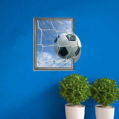 3D Football Scoring Personality Creative Removable Wall Sticker 3d blooming rose interior removable wall sticker