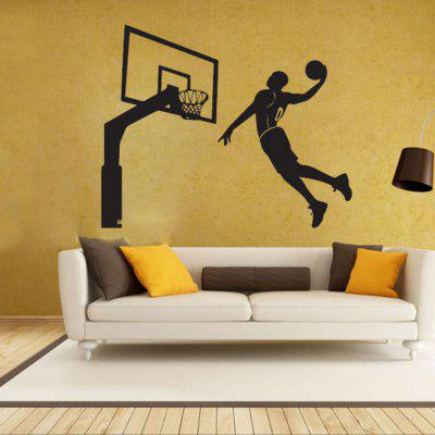 Black Basketball Personality Creative Removable Wall Sticker 3d blooming rose interior removable wall sticker