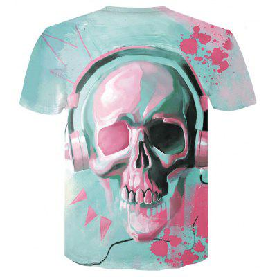 Mens Summer  Round Collar Short Sleeved Dry 3D Skull T-ShirtGeeky Clothing<br>Mens Summer  Round Collar Short Sleeved Dry 3D Skull T-Shirt<br><br>Collar: Round Neck<br>Material: Acetate<br>Package Contents: 1 x T-shirt<br>Pattern Type: Print<br>Sleeve Length: Short Sleeves<br>Style: Fashion<br>Weight: 0.1000kg