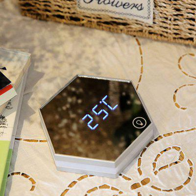 USB Charging Alarm Clock Led Multifunctional Mirror Desk LampClocks<br>USB Charging Alarm Clock Led Multifunctional Mirror Desk Lamp<br><br>Package Contents: 1 x Alarm Clock,1 x USB Charging Line<br>Package size (L x W x H): 14.80 x 14.50 x 4.40 cm / 5.83 x 5.71 x 1.73 inches<br>Package weight: 0.4000 kg<br>Product weight: 0.4000 kg